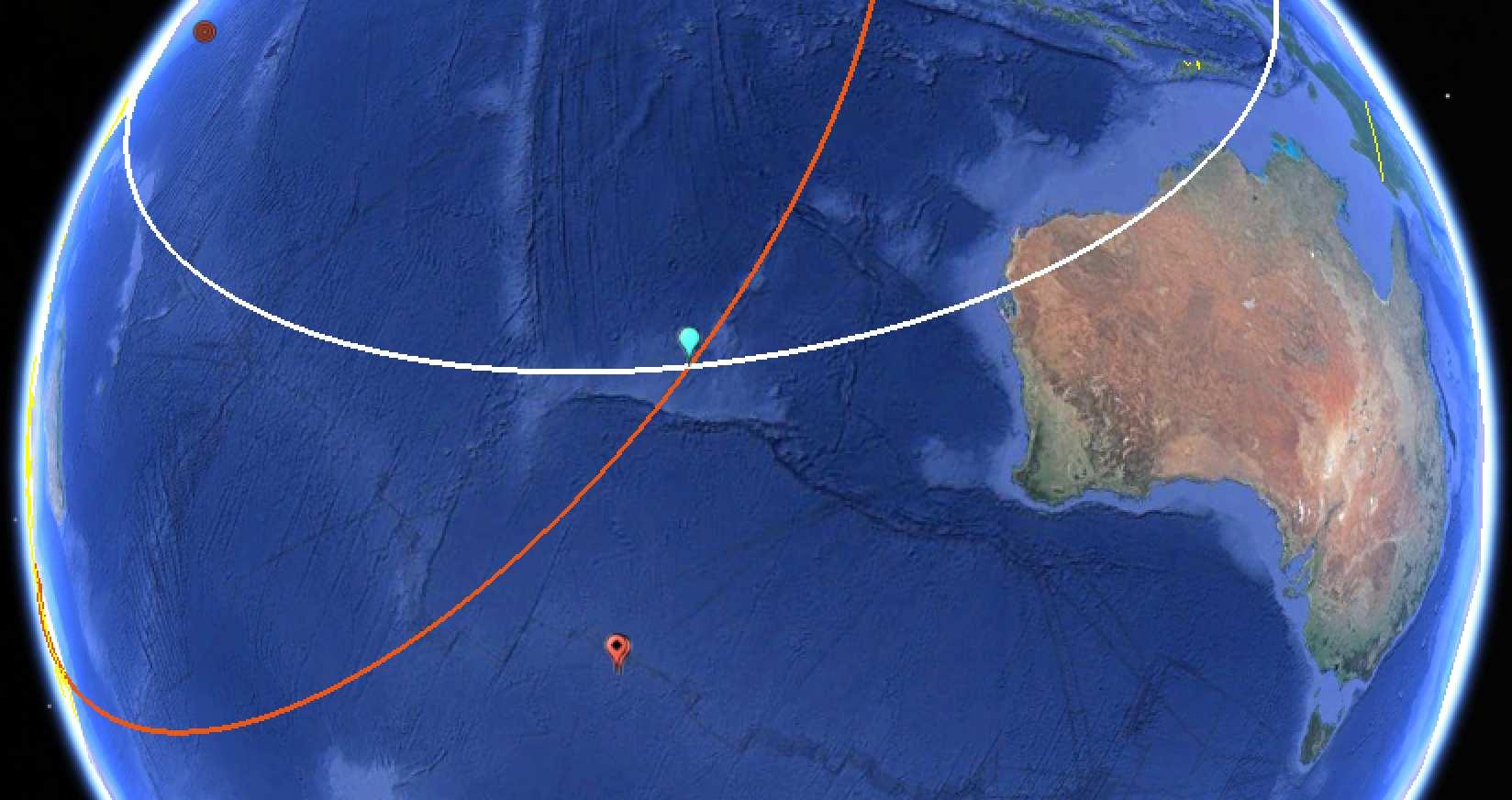 Posibles trayectorias del vuelo MH370