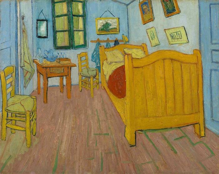 La habitación, de Van Gogh