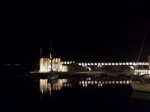 Puerto de Nafpaktos de noche
