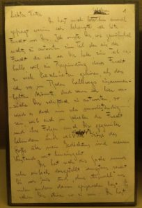 """Primera página de la """"Carta al padre"""""""