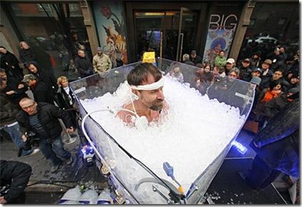 Wim Hof, el hombre de hielo en New York